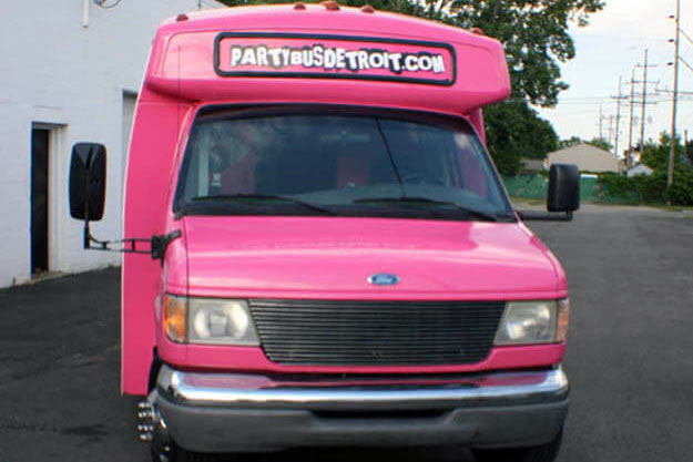 Detroit Pink Party Bus